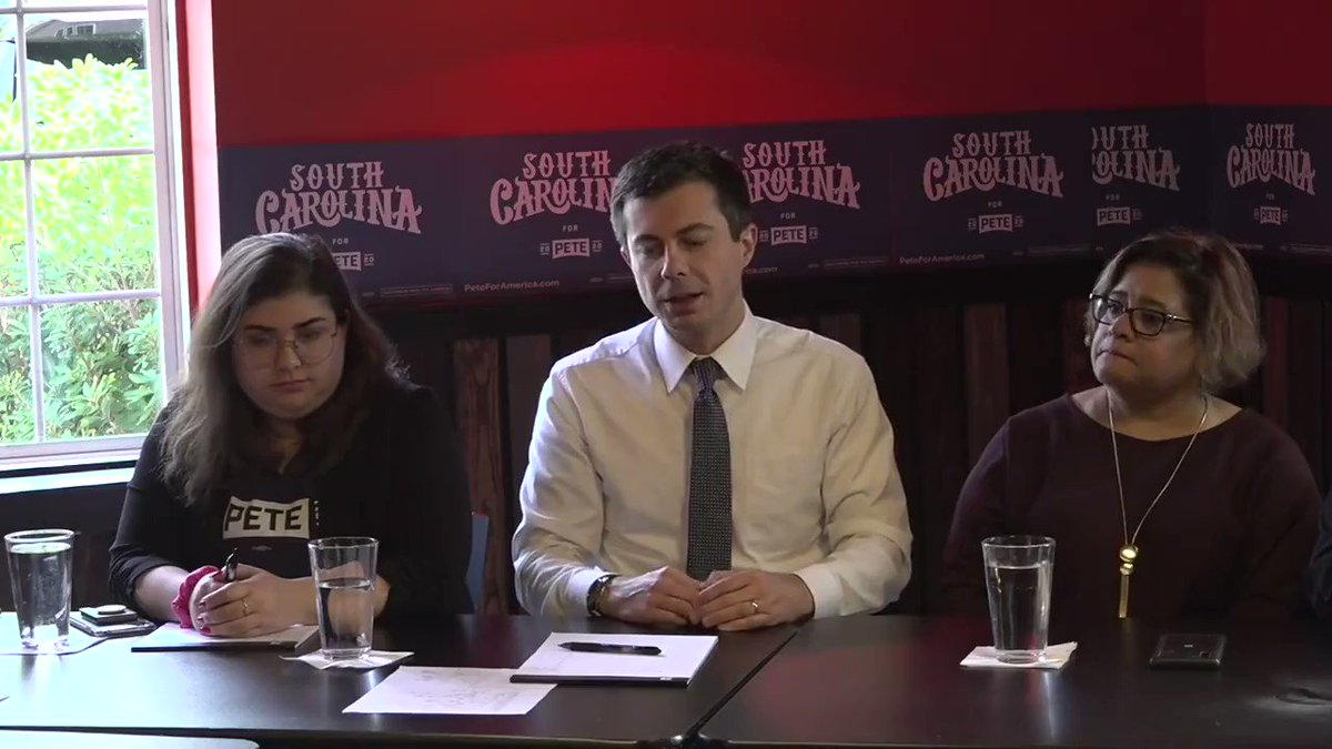 Pete Buttigieg: 'Anyone who supported this President is at best looking the other way on racism, at best.'