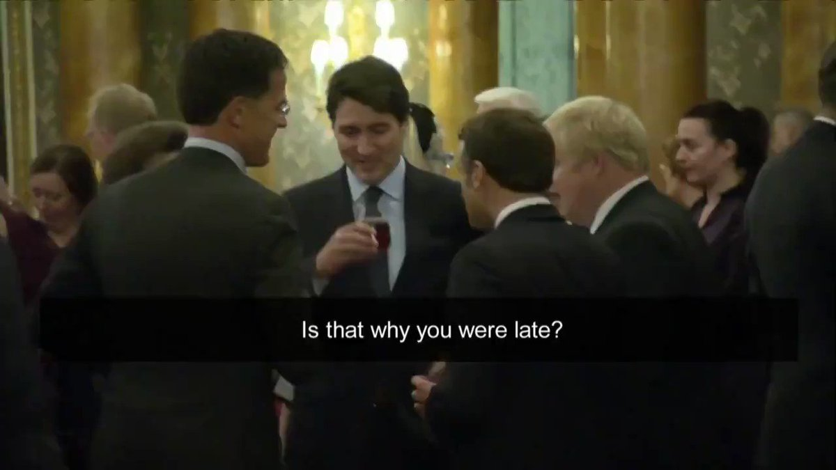 Nothing to see here, just a few world leaders at Buckingham Palace overheard talking ...(Video: Host Pool)
