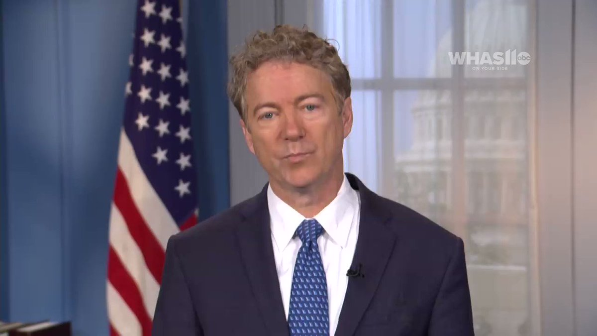 """""""Apparently Adam Schiff has been spying on Devin Nunes phone records, has confiscated his phone records & I think thats alarming that 1 member of Congress could be looking @ the phone records of another member of Congress"""" @RandPaul response to my Q abt Nunes & Giuliani. @WHAS11"""