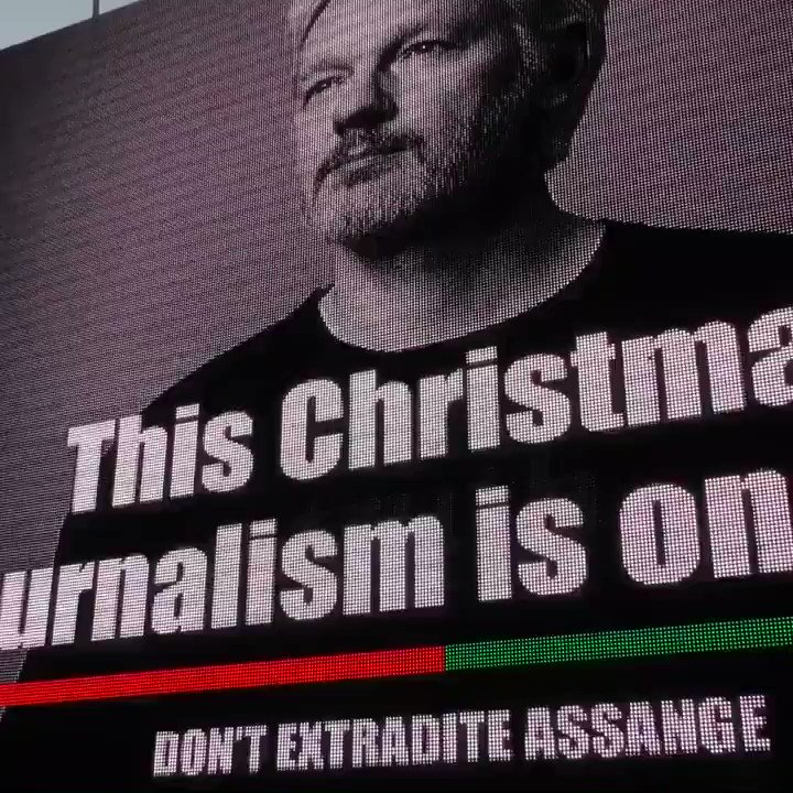 """""""Julian Assange is someone who revealed the truth, which is what journalism is supposed to be about.  And it's become an increasingly dangerous job, as his case shows."""" --Brian Eno launches Christmas cards for Assange campaign in London. More: https://t.co/mCgdul4TU7 #FreeAssange"""