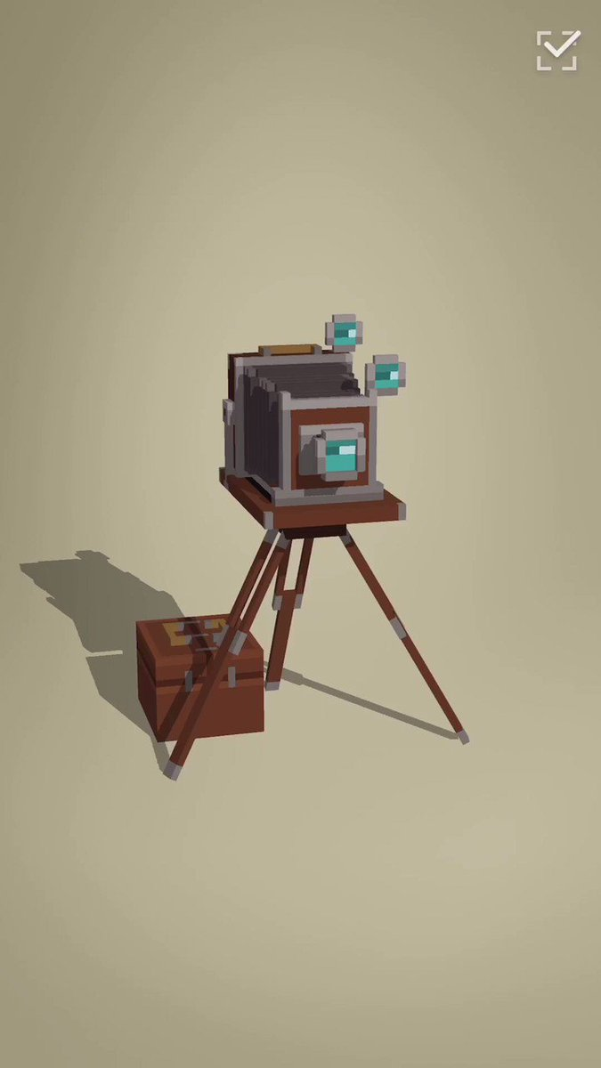 Made a Tripod from The War of The Worlds. #voxelart making with #puzzrama 👇 #パズラマ で宇宙戦争のTripod作った。♫TikTok#voxel #gamedev