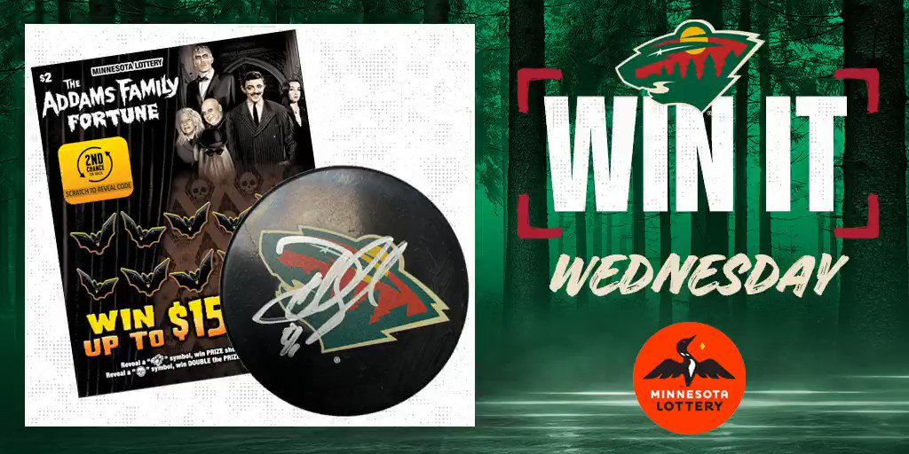 Say I'MN to #WinItWednesday.  RT for a chance to win a puck signed by Devan Dubnyk, $50 in @mnlottery scratch 🎟 and more!  Rules: