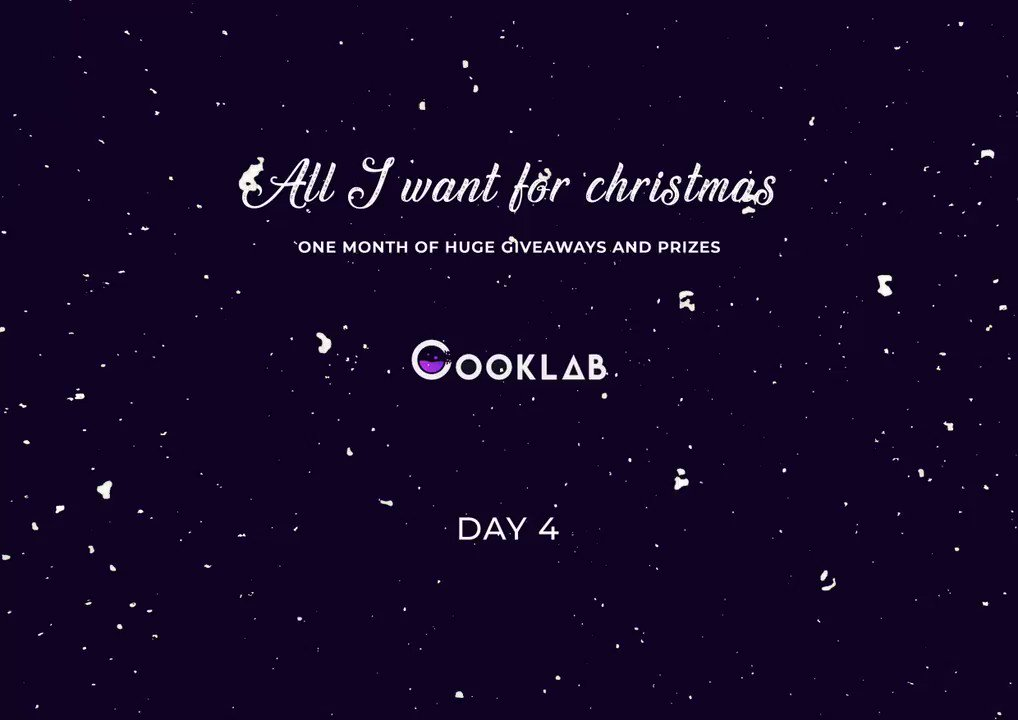 Day 4 Of The Cooklab Calendar Is Live NowTo Enter The Giveaway - Follow @EveAIO @CookLabIO - RetweetPrizes1 X Eve Lifetime Key@EveAIO  1 x Monthly Membership@CookLabIO Good Luck 🎅
