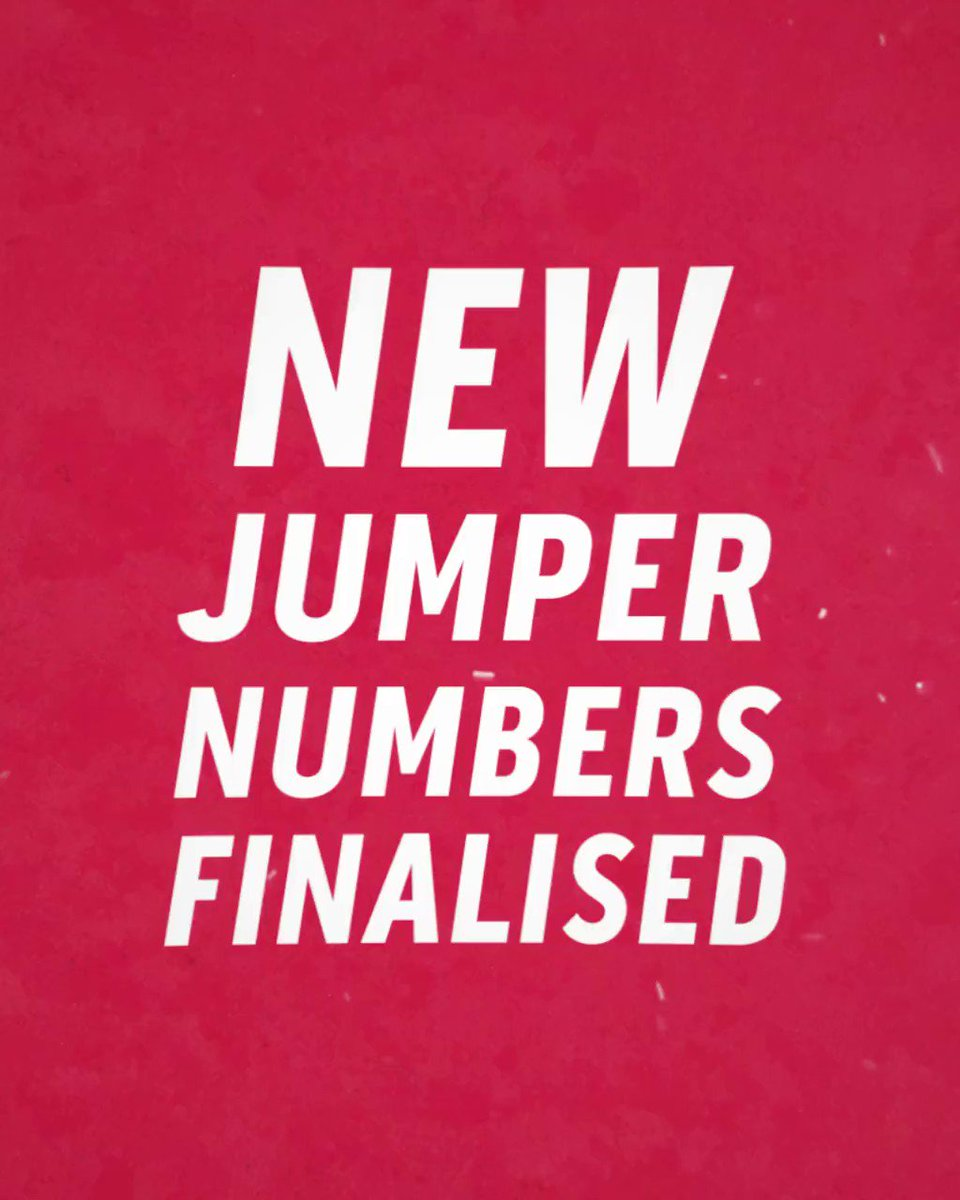 Image for the Tweet beginning: Our new guernsey numbers revealed....