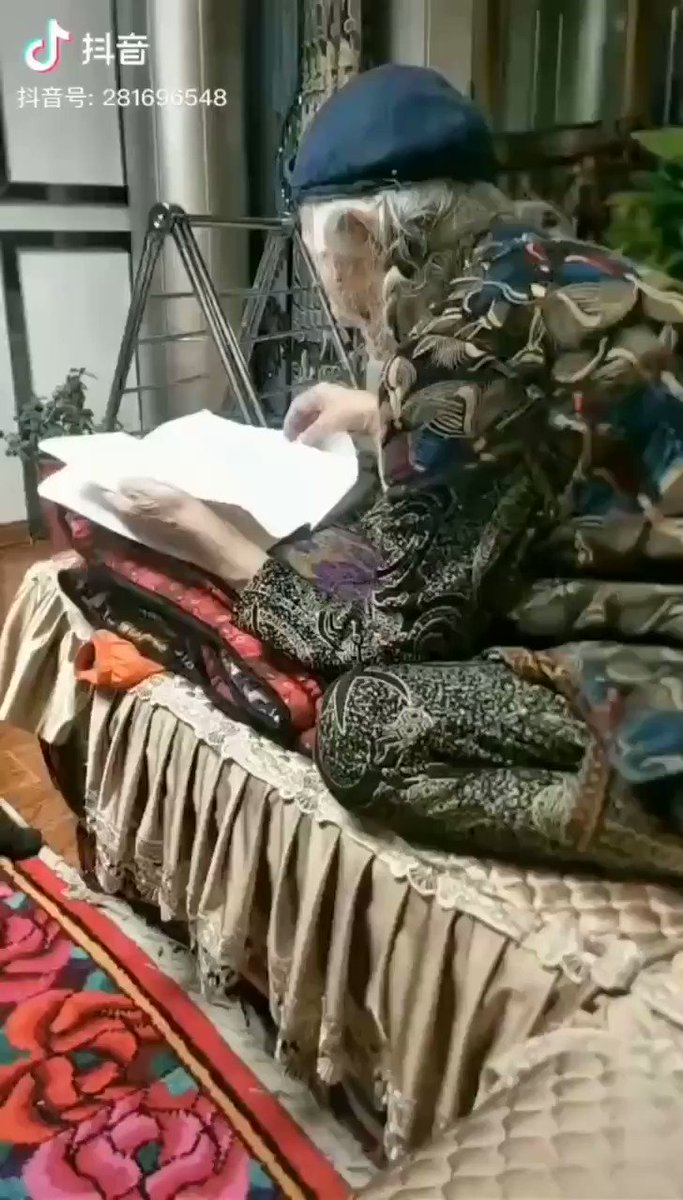 #Uyghur #Muslim in her 80's should be reading the #Quran, but instead she is forced to learn #ChineseNo one can escape the evil of the #Chinese regime#chinazi