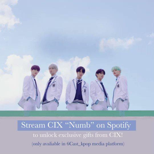 #CIX #Numb を #Spotify でたくさん聴くと再生達成回数に応じてインセンティブが公開される🔑UNLOCK MISSION🔑はまだまだ実施中です❣❣️再生はこちらから👇