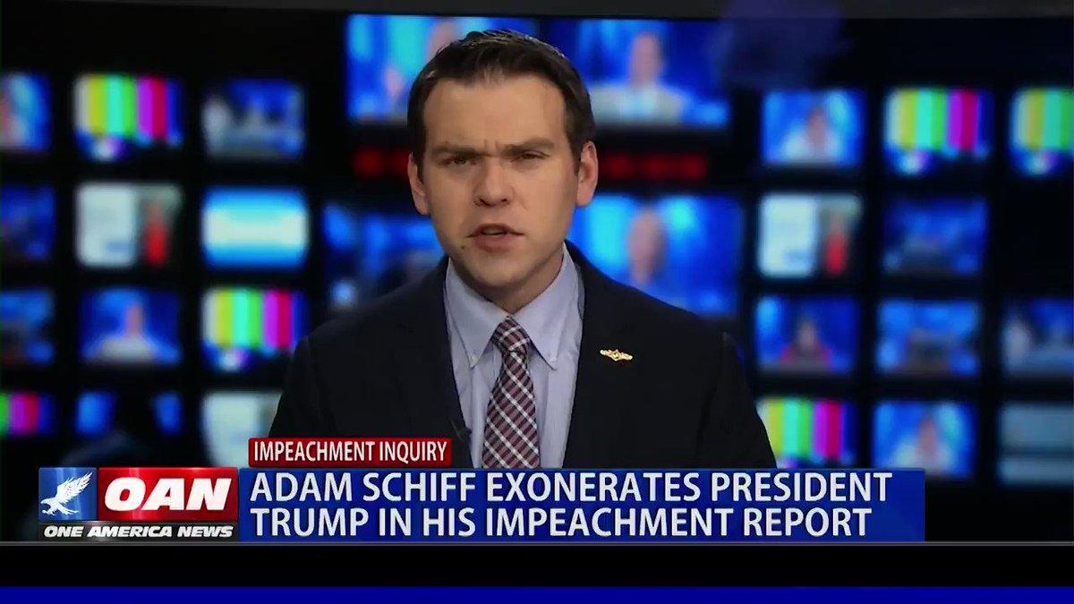 Ha - Seems #AdamSchiff exonerates #PresidentTrump in the #ImpeachmentReport