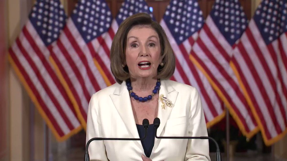 Hasil gambar untuk Pelosi asks House Democrats to proceed with articles of impeachment/ wapo/ gif