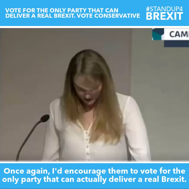 """""""Once again, I'd encourage them to vote for the only party that can actually deliver a real Brexit. To rescue that flicker of hope. To save our home from Marxism. To get Brexit done...please change your vote to Boris, and vote for the Conservative party.""""  @Lugey6 #StandUp4Brexit"""