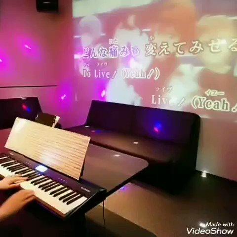 みんなが来る前にジュエリーオルゴールverとか弾けないかなって遊んでました😊#アイナナ の映像流しながらオリジナル曲を #弾いてみた