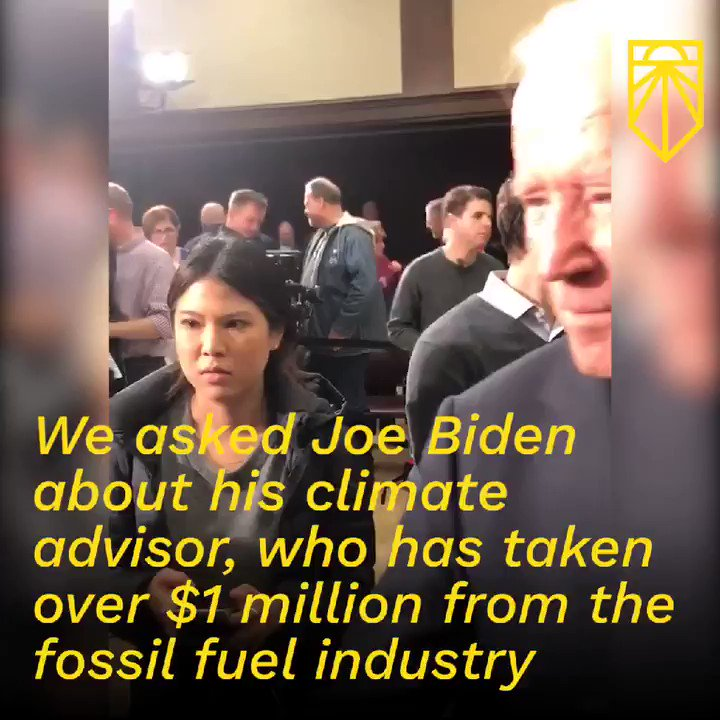 Here's a thought, @JoeBiden. Maybe your climate policy advisor shouldn't be somebody who has taken a million dollars from the fossil fuel industry 🤔  Otherwise your commitment to averting the climate crisis sounds like a bunch of...well, malarkey.