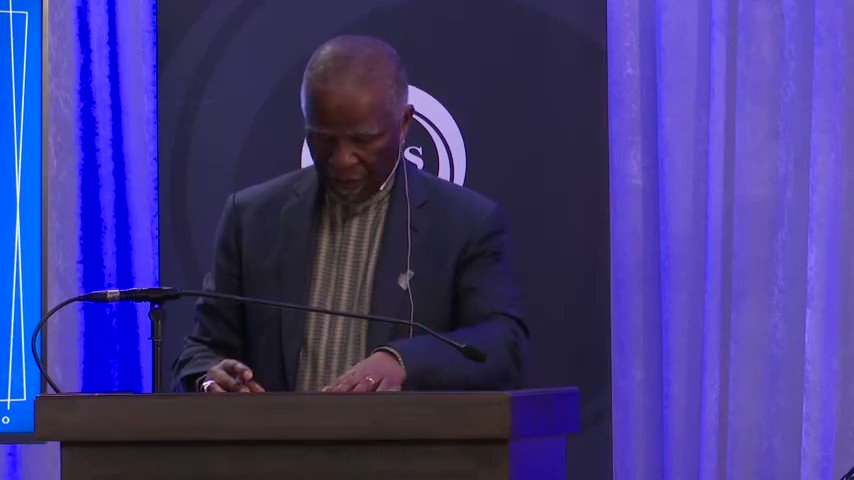 President Mbeki talks about the racist white corporate SA that is hoarding over R1 trillion in cash and refuse to invest it locally.