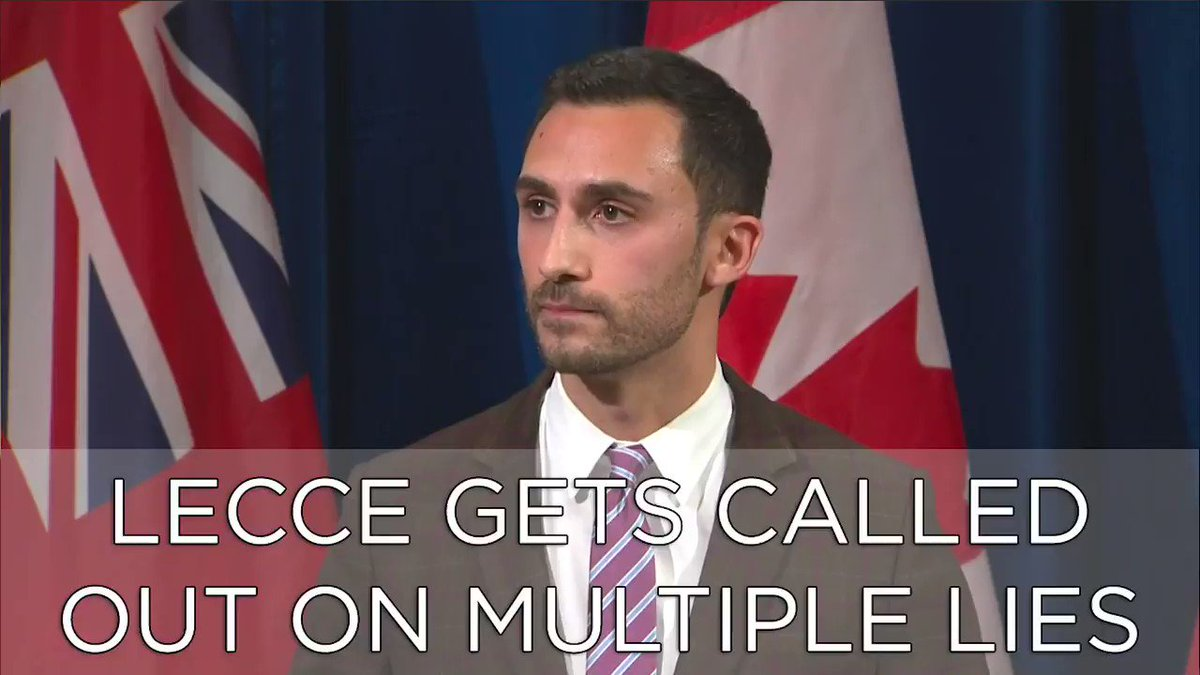 Can we give these journalist an award for calling out Education Minister Stephen Lecce on his constant lies about the #osstf strike? This was great. #ONPoli #ONTed #NoCutsToEducation #KingVaughan