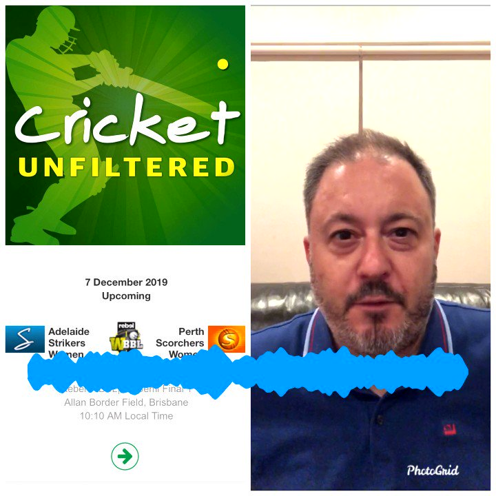 In our latest episode, @amenners is not happy at the WBBL finals schedule.To hear Mad Menners' full rant search 'cricket unfiltered' on podcast apps or Spotify.Link: https://player.whooshkaa.com/episode?id=507968 …#AUSvPAK #PAKvAUS #WBBL05 #AUSvNZ