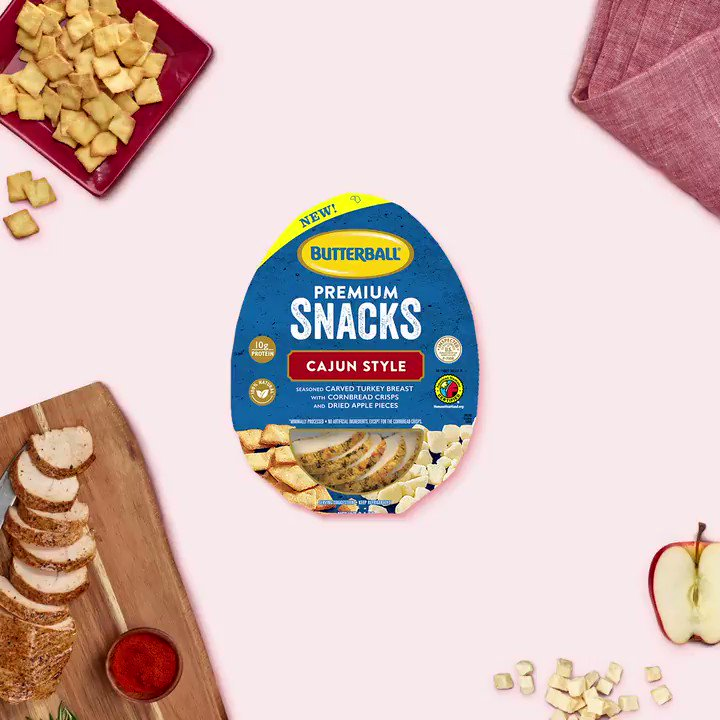 Image for the Tweet beginning: Introducing NEW Butterball Premium Snacks!