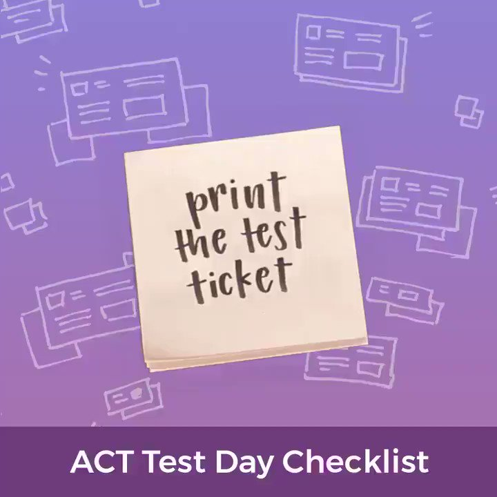 Image for the Tweet beginning: If you're taking the #ACT