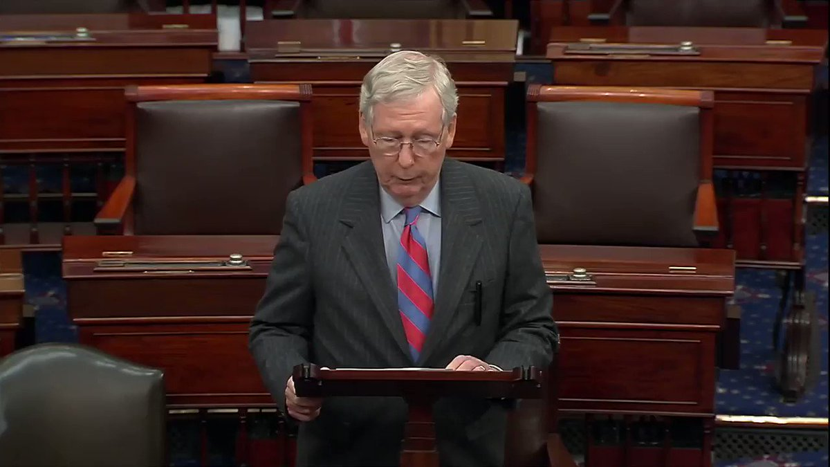 """American families deserve better than this partisan paralysis where Democrats literally obsess over impeachment and obstruct everything else."" -@senatemajldr"