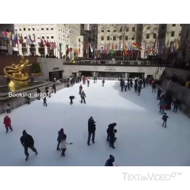 Rockefeller Center -new York 🏂❄️🇺🇸 شف الياباني الفله 😂 آخر المقطع ساحة روكفلر⛄️للتزلج ثالث أفضل ساحة بالعالم🌎 الموقع منهاتن - نيويورك💗 - تابعوني يومياً جديد من تصويري 🎥