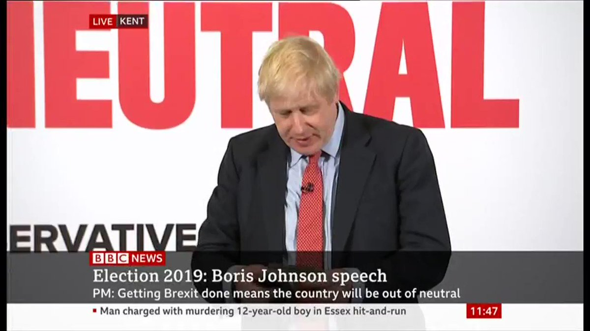 Boris Johnson's decision to hide from Andrew Neil is clearly getting to him. Shouting at journalists and comparing Andrew Neil to Lord Buckethead is not a good look. He should do the right thing, and do the interview. #GeneralElection2019