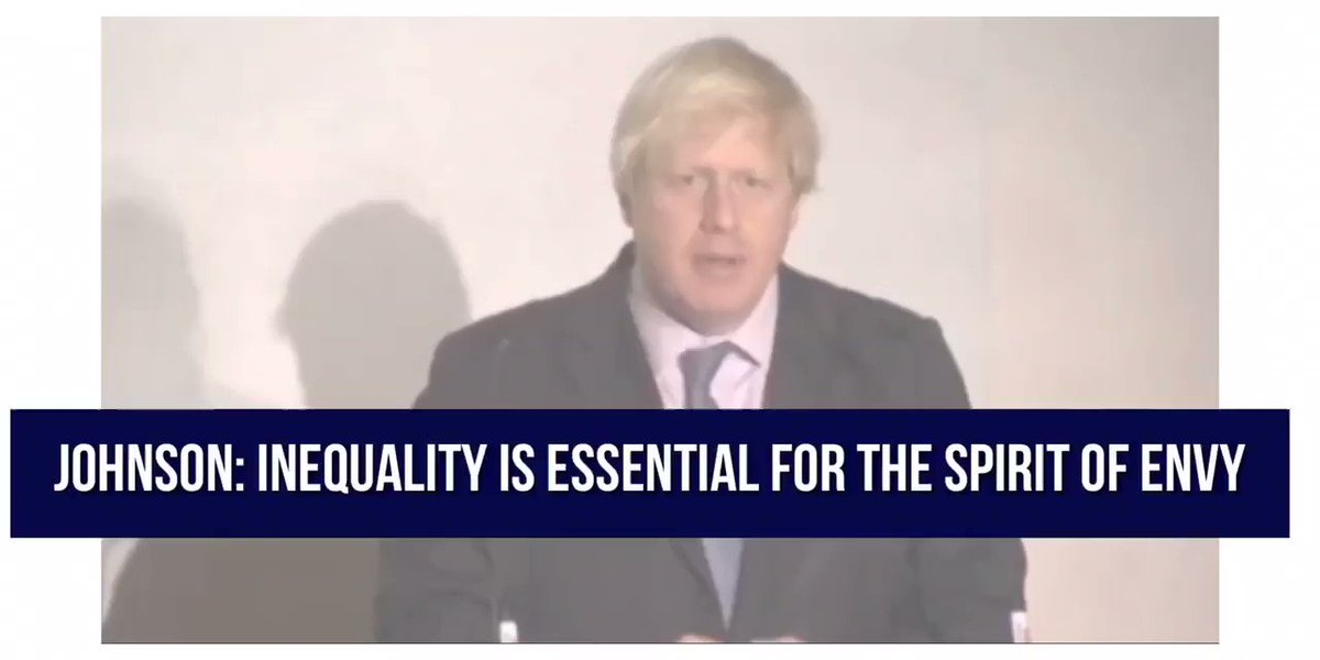 """This is the utterly stunning video that Boris Johnson hoped and prayed you would never see. Remember his words: """"Inequality is essential."""" This should finish him. #GE2019 #SackJohnsonSaveBritain"""