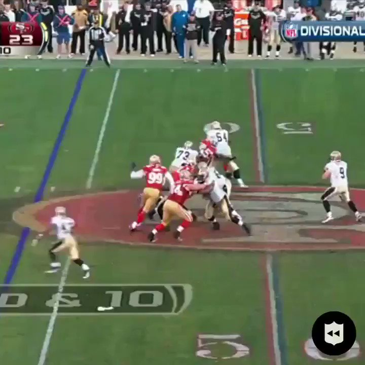 Four lead changes in the final four minutes. This was one of the decade's wildest playoff games. (Jan. 14, 2012)  @49ers   #GoNiners  #SFvsNO: Sunday at 1pm ET on FOX