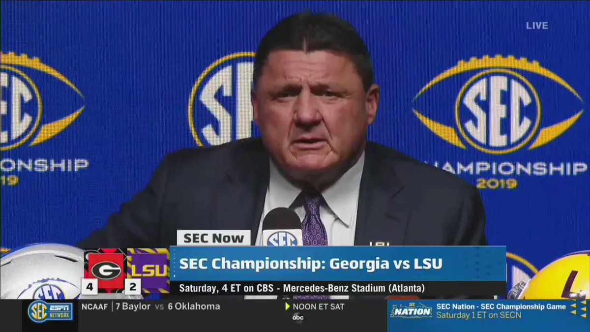 Ed Orgeron Shares Great Story About Joe Burrow Before SEC Title Game