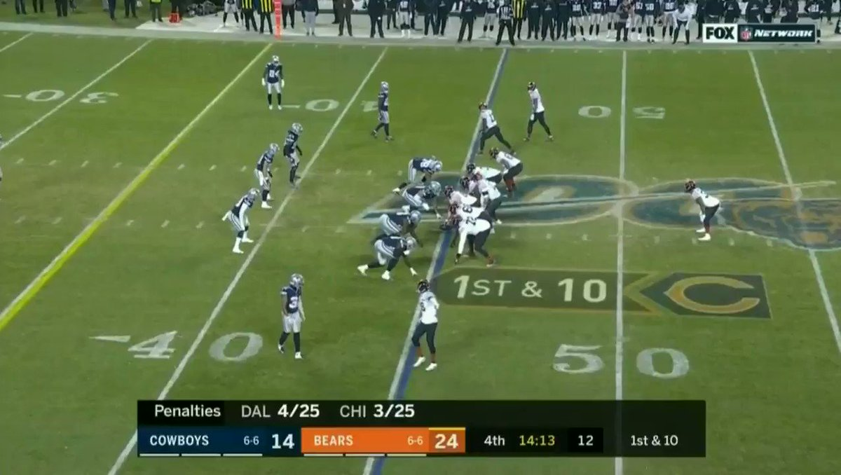 "2. This throw by Trubisky to Robinson is straight ridiculous. Falling away to his left. Pressure closing in. The receiver is between two defenders with two more in close proximity.  Ball has to be perfect. Hits him right in the numbers. That is called a ""special"" throw.  #Bears"