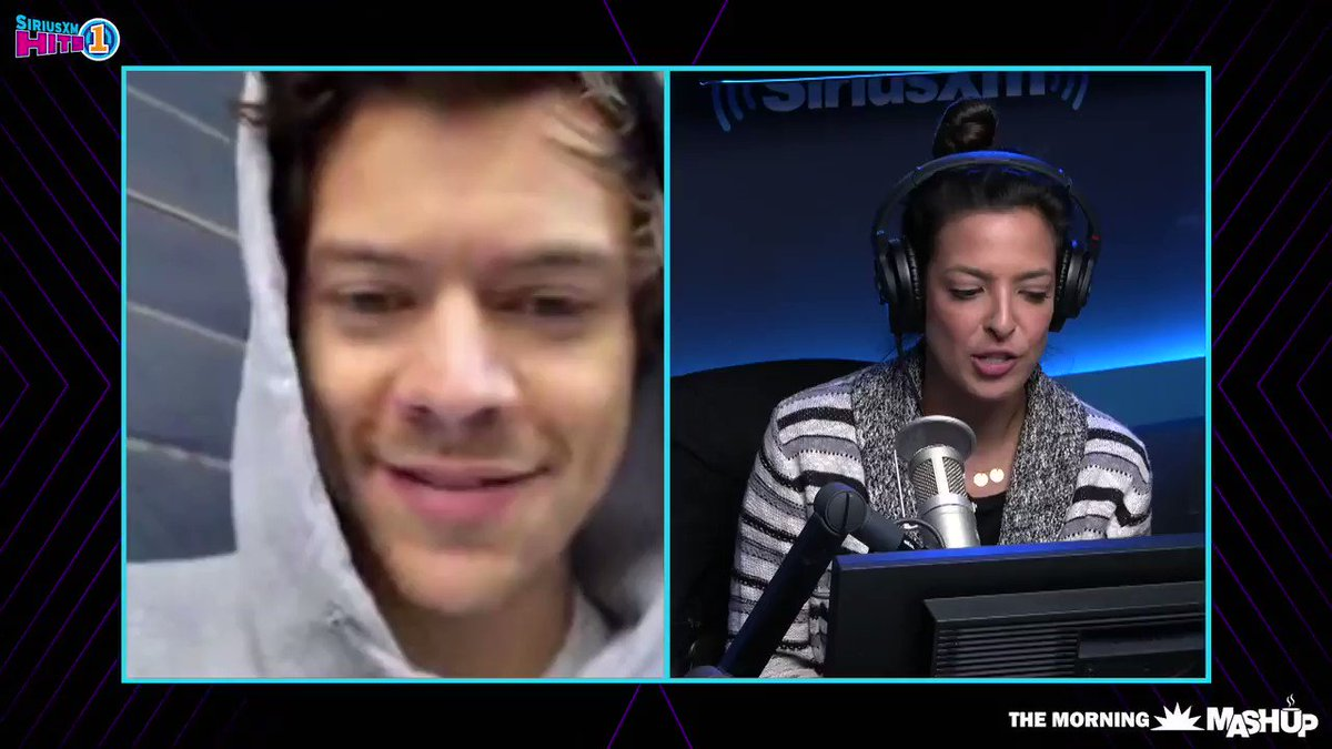 #HarryOnHits1 @americanastyle asked the question we all needed to know.. what does @harry_styles think of Baby Yoda?