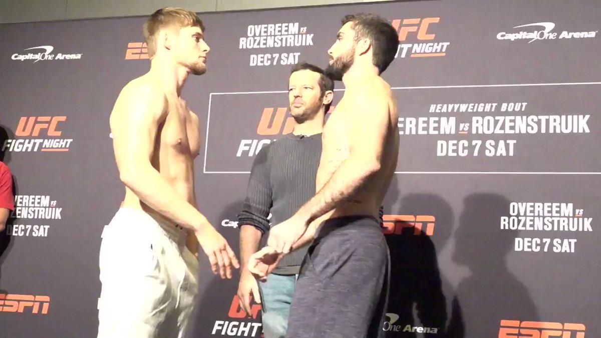 Interesante pelea en peso pluma #UFCDC  @ThugnastyMMA vs @SaylesMMA