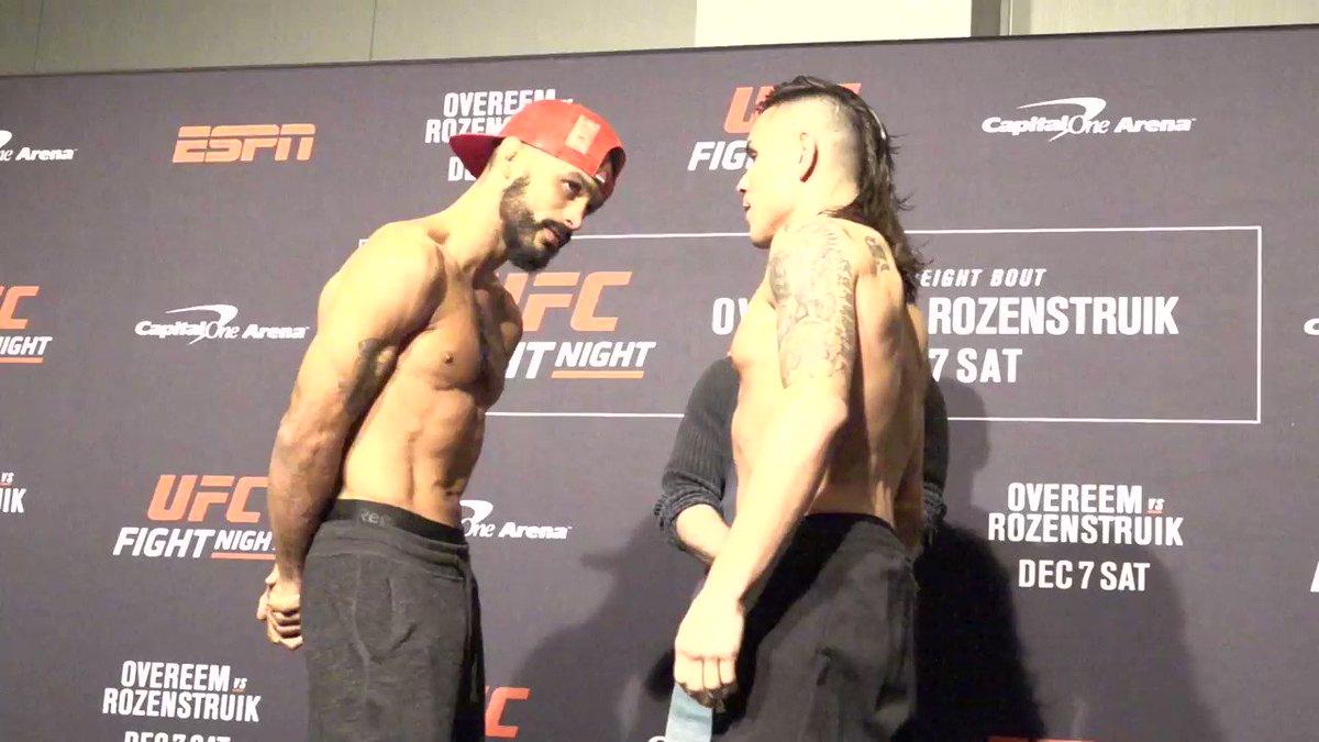 Brutal guerra en los pesos gallo abre las estelares  @RobSFont vs @RickySimonUFC #UFCDC
