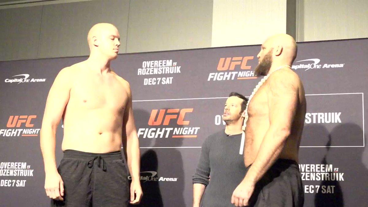 Siempre emocionantes los pesos completos!  @StefanStruve vs @RothwellFighter #UFCDC