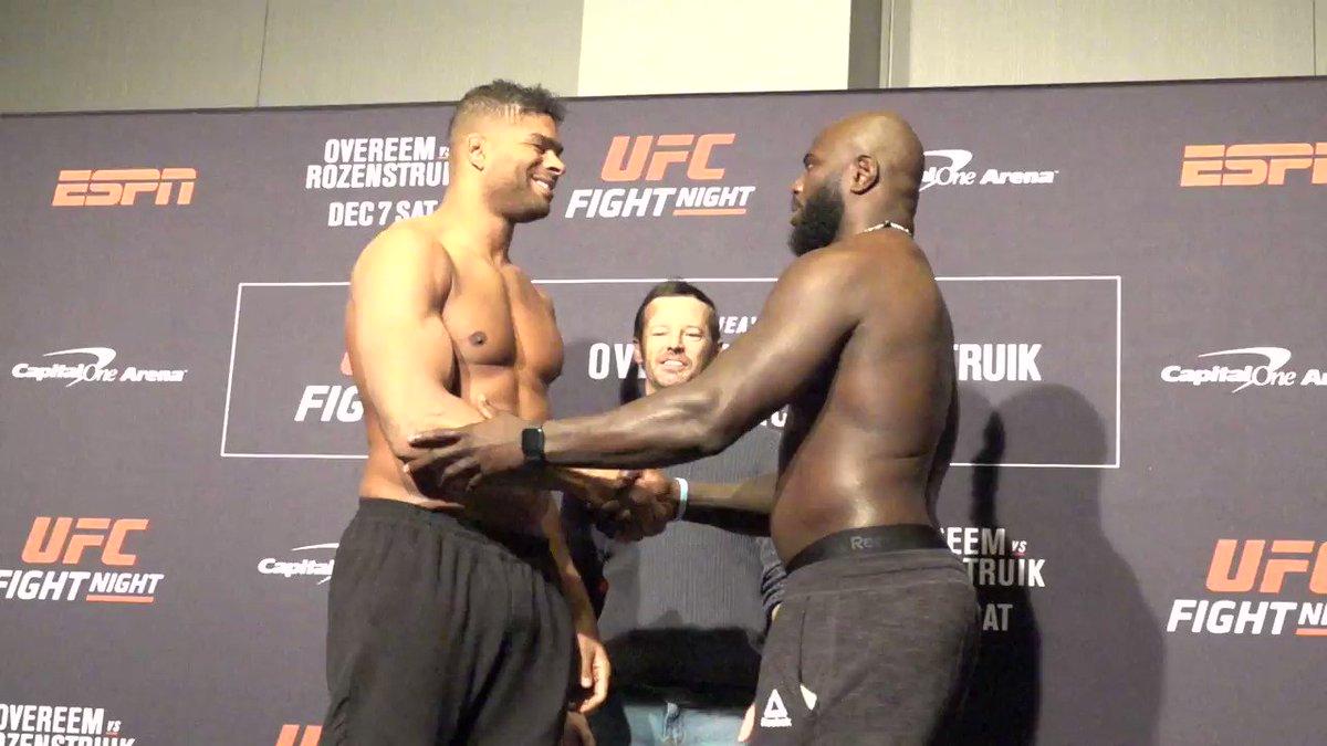 Buscarán el KO en todo momento!!! #UFCDC  @Alistairovereem vs @JairRozenstruik