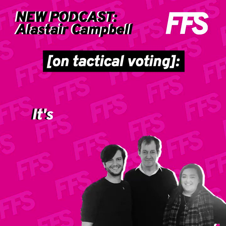 My chat with founders of @FFSake_ for their weekly podcast. Obviously not as good as my podcast with @GraceCampbell but not bad for a couple of young 'uns. We talk all things election and Brexit and yes I do think tactical voting is cutting through - @AmandaCC92 @Just_RichardB