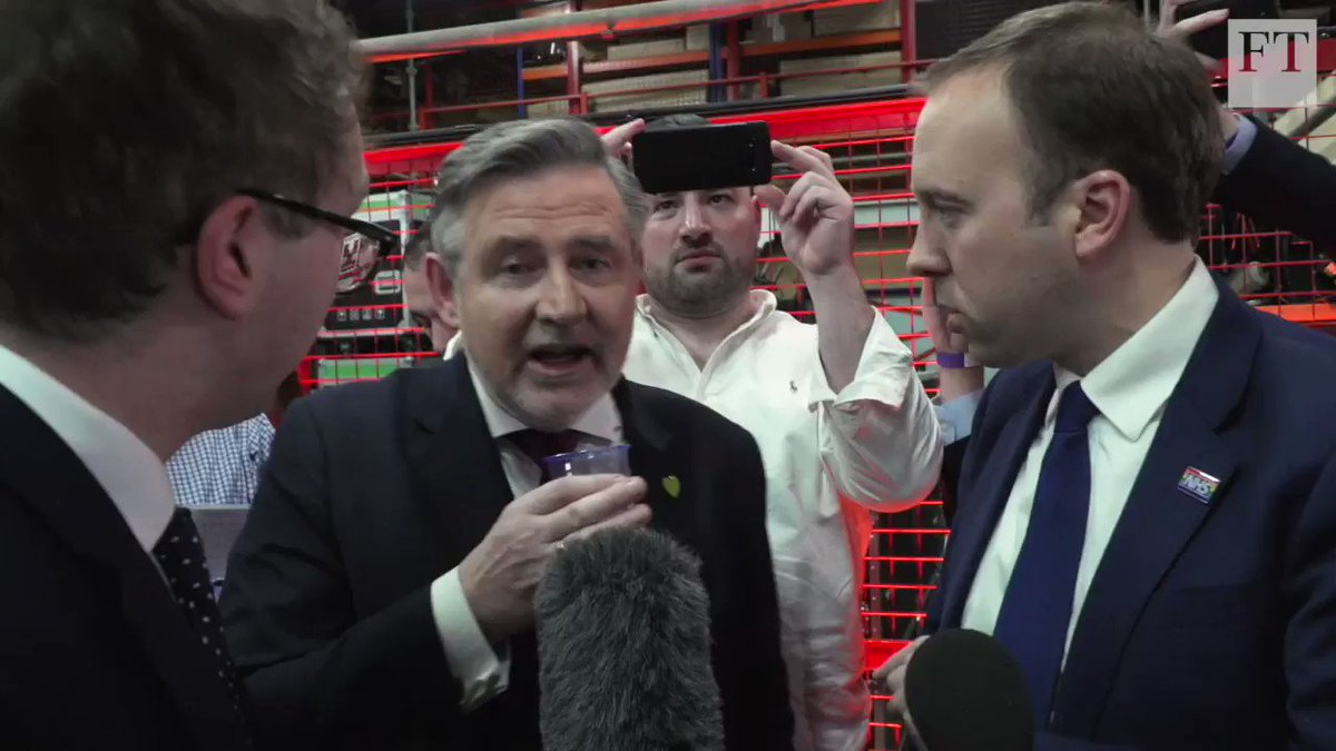 When @MattHancock met @BarryGardiner - the Conservative and Labour frontbenchers sparred in the spin room at #BBCDebate last night on Brexit and much more. Watch the full testy exchange youtube.com/watch?v=UHu0bH…