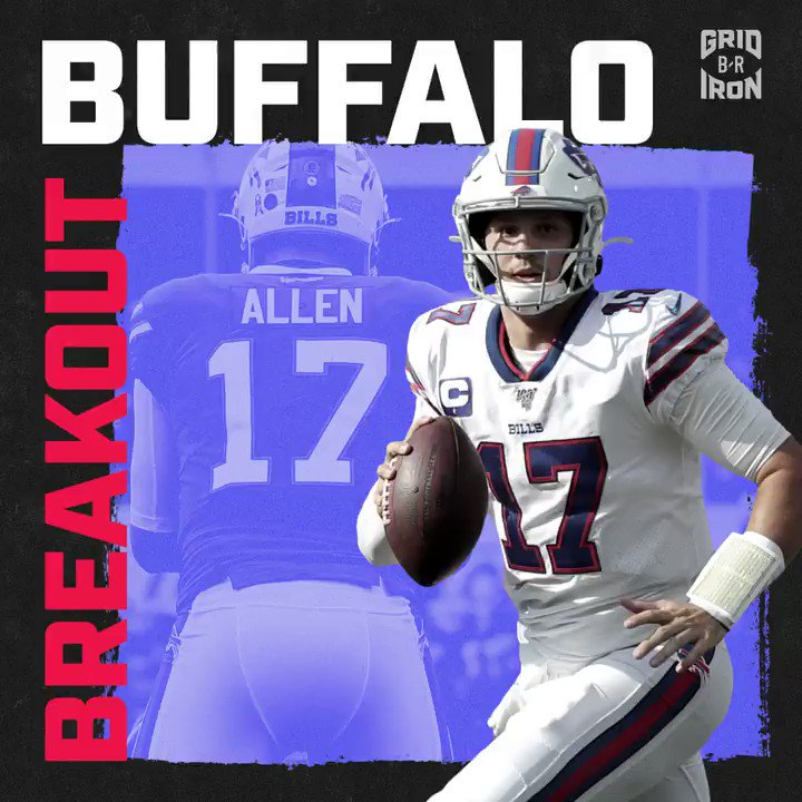 Time to start talking about Josh Allen as one of the most dangerous QBs in the game ♨️ @brgridiron