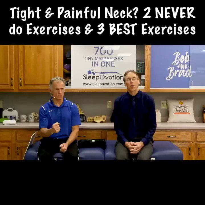 Watch this if you have a tight or painful neck! As always click the link on our homepage to see the full video! #BobandBrad #FamousPT #healthy #fit #painfree #physicalTherapy #fitness #neckpain #backpain