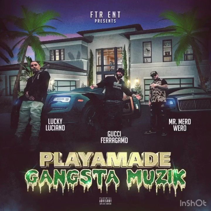 Playamade Gangsta Muzik Out Now!!! Available Everywhere Music is Sold Online! 💯💯💯 @ftrworldwide100 @itsluckybaby @goldtoes415 @gtdigitaldistribution #instagood #instalike #instapic #hiphop #rap #rapper #trap #dope #urban #music #lifestyle #culture #latino