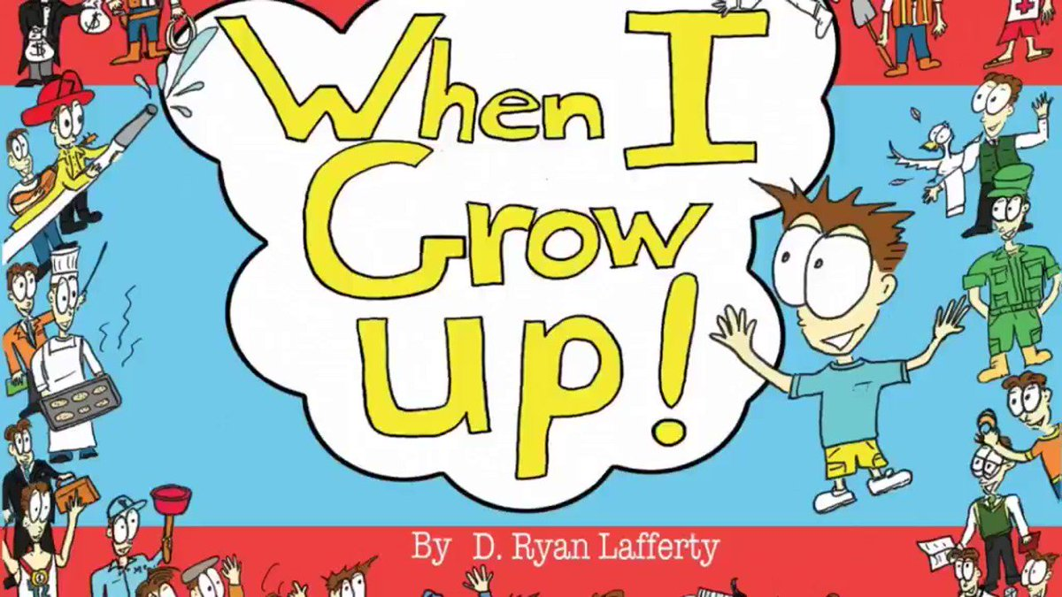 """My newest is on sale at Amazon for $13!  """"When I Grow Up!""""  https://www.amazon.com/When-I-Grow-Up-1/dp/1543985262/ref=sr_1_1?keywords=when+i+grow+up+lafferty&qid=1573107362&sr=8-1…  #childrensbooks #kids #kidlit #giftidea #rhyme #illustrated #cool #writingcommunity #ShamelessSelfpromoSaturday #xmas2019 #gift #rhymetime"""