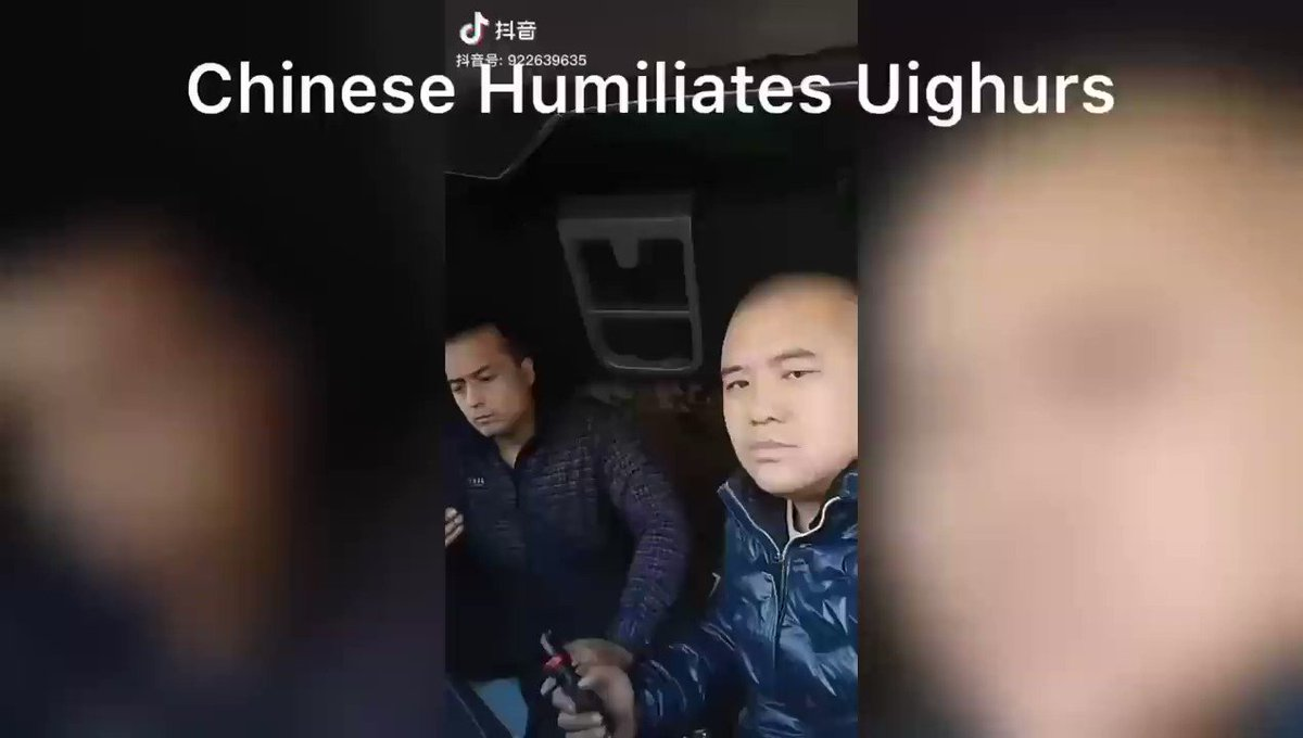"Han #Chinese treat #Uyghurs as slaves. In this video, the Chinese says ""do you know me ?if you know me,don't move ,if you move, I will kill you."" #China's communist party encourages Chinese to bully Uyghurs. Han Chinese benefit from Chinese government's anti #Uyghur policies."