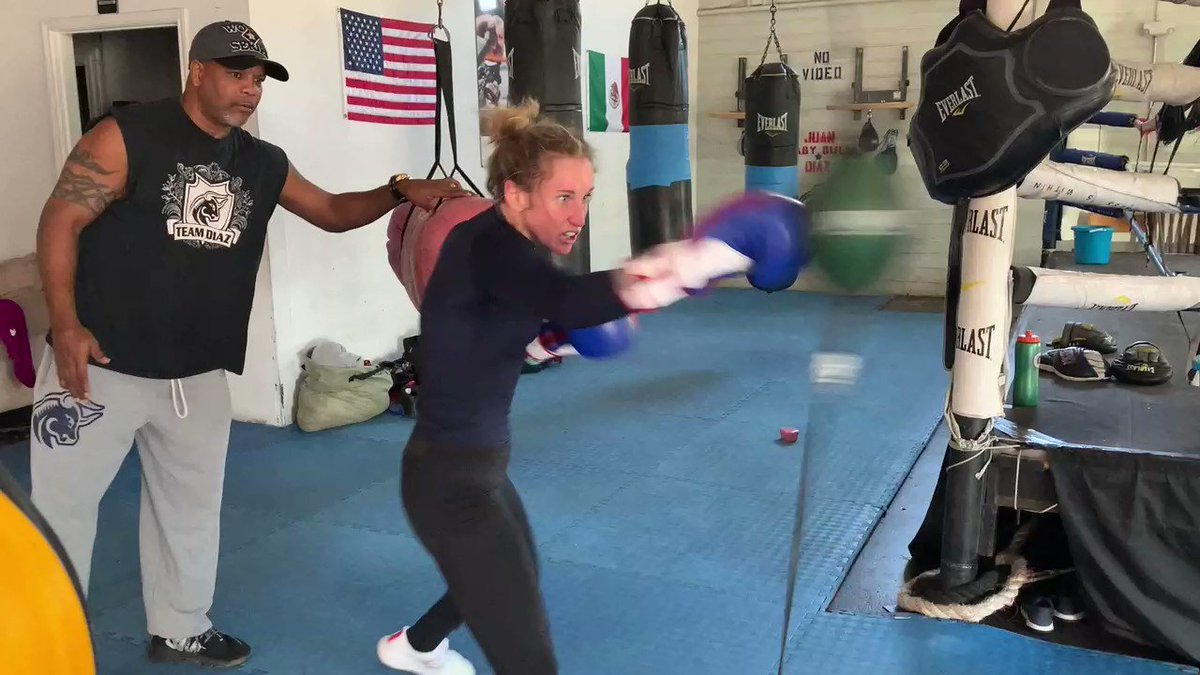 My last day of training camp before @USABoxing Trials.  How Long?  Not Long!  Team Hard Work 👊🏼 @adidas @adidasUS @AdidasCombatUSA @Team_HardWork @BabyBullGym  . . . . #ginnyfuchs #boxing #usaboxing #Tokyo2020 #trials #womensboxing #babybullgym #sports #traininghard