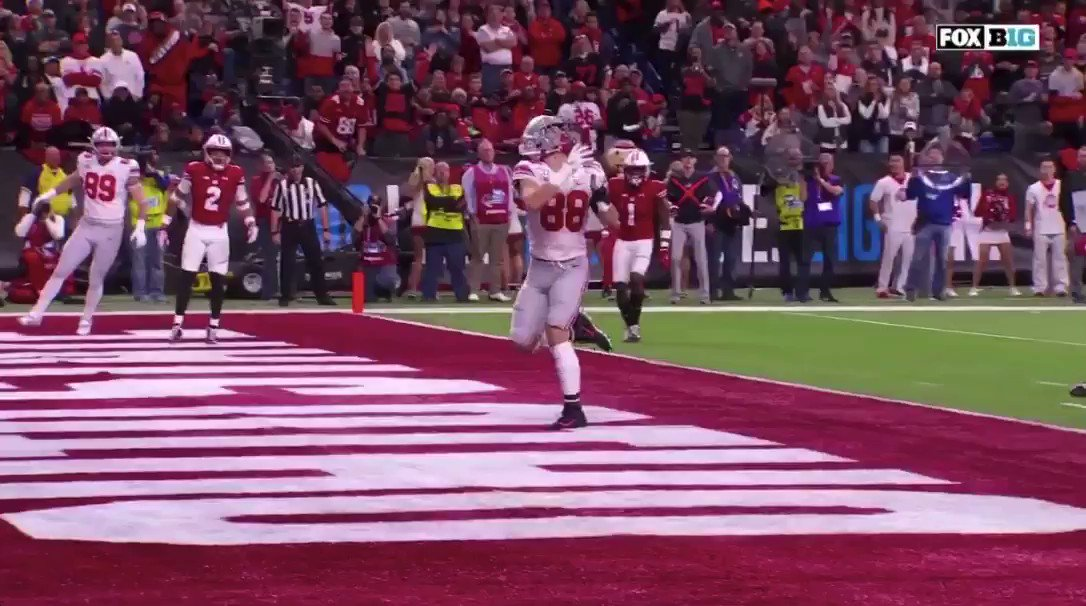 WATCH: Ohio State's Jeremy Ruckert makes one-handed touchdown catch