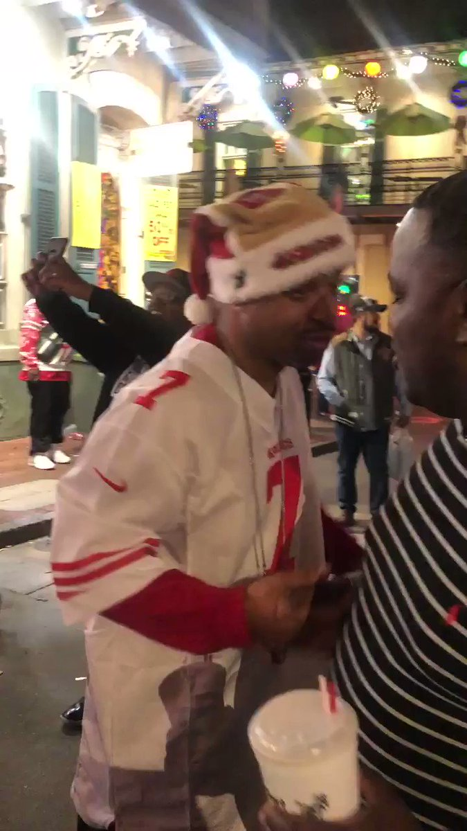 #49ers fans taking over Bourbon Street