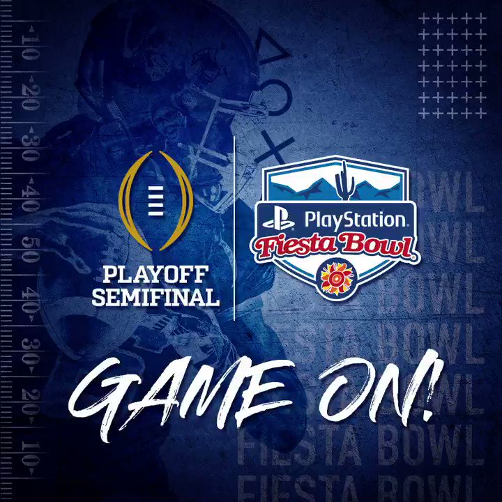 GAME ON: @OhioStateFB and @ClemsonFB are coming to Arizona for a rematch in the 2019 @PlayStation #FiestaBowl and @CFBPlayoff Semifinal! 🏈🌵🎮Get your tickets NOW: http://fiestabowl.org/tickets#GreatnessAwaits   #ToughLove   #ALLIN