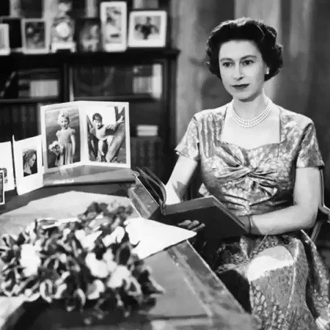 Twenty-five years later, in 1957, The Queen broadcast the first televised Christmas message. The #QueensSpeech was delivered live from the Long Library at Sandringham, Norfolk.