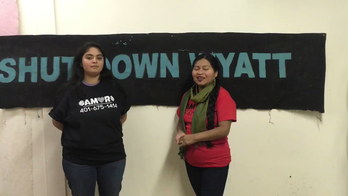 """A message from @amornetwork, the immigrant rights organizers who are leading the fight to #CloseTheWyatt and will be marching w/ us on Tuesday: """"We will keep resisting the Wyatt Detention Center until the contract with ICE is ended, and when this entire facility is shut down."""