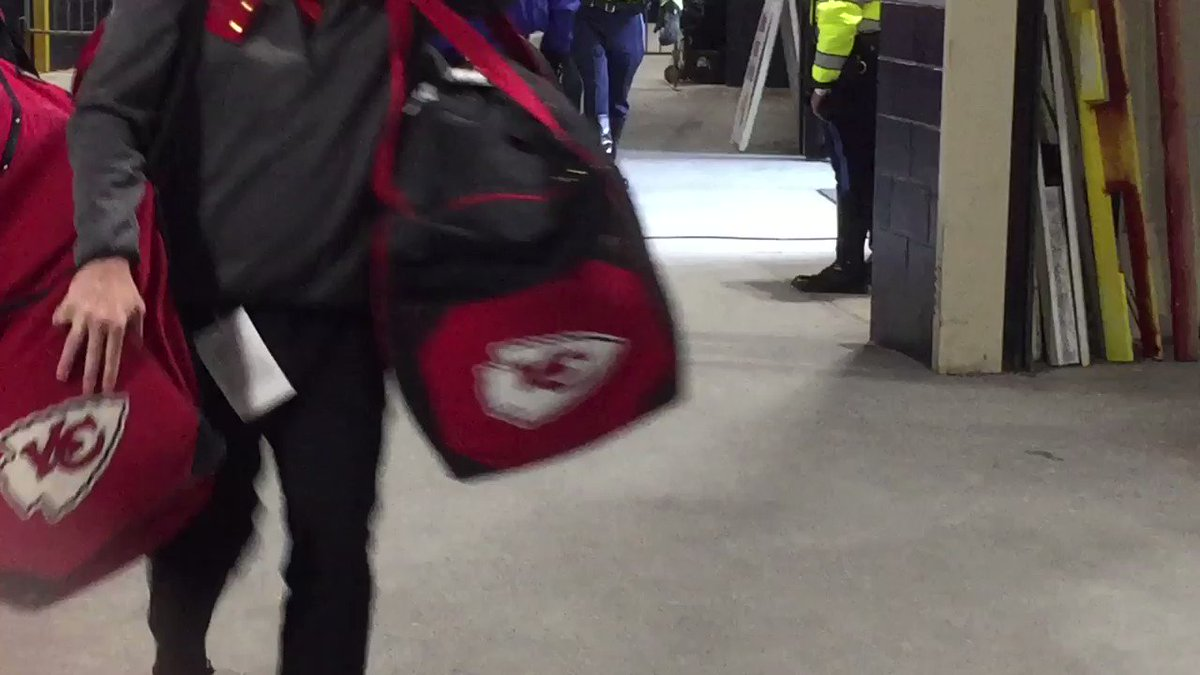 Video Shows Chiefs' Equipment Being Rushed Into Gillette Stadium