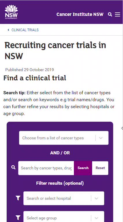 Very cool way to find clinical trials