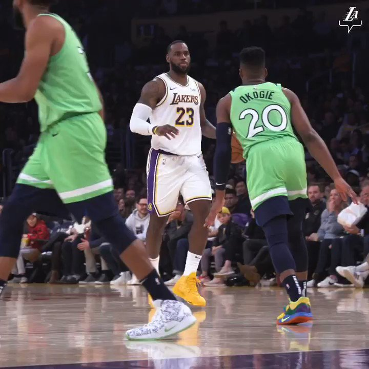 LeBron James is displaying his versatile skill set in the purest way