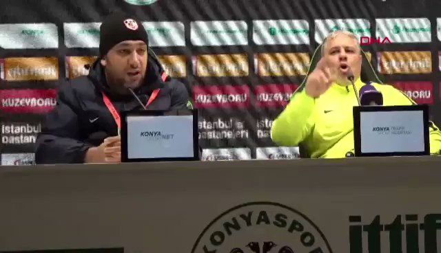Epic video. The best press conf in the history of press conferences. Sumudica showing explicit signs in his press conf following the game vs Konyaspor. Also saying the home fans chanted I fuck you mother towards him. Best 2 mins ever.