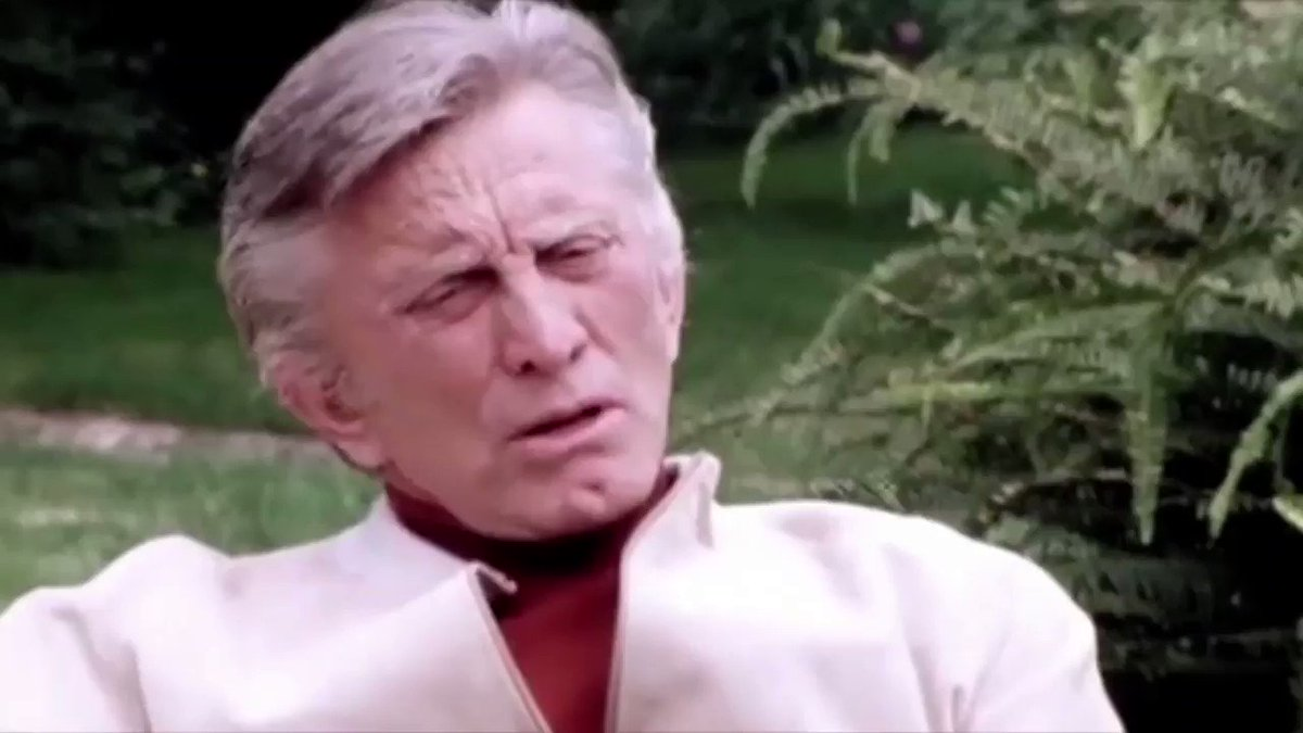 Happy 103rd birthday to #KirkDouglas! Here's the legendary actor discussing how he broke the blacklist by insisting SPARTACUS screenwriter, Dalton Trumbo, be credited.